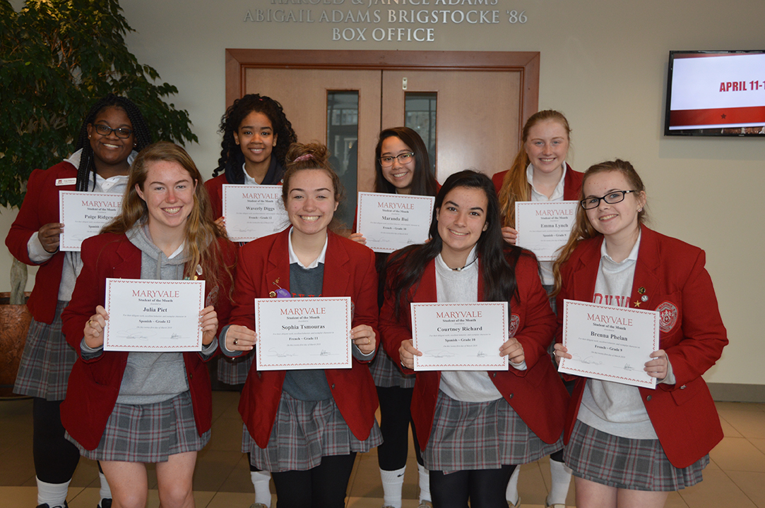 Students of the Month: 14 honored for success in World Languages