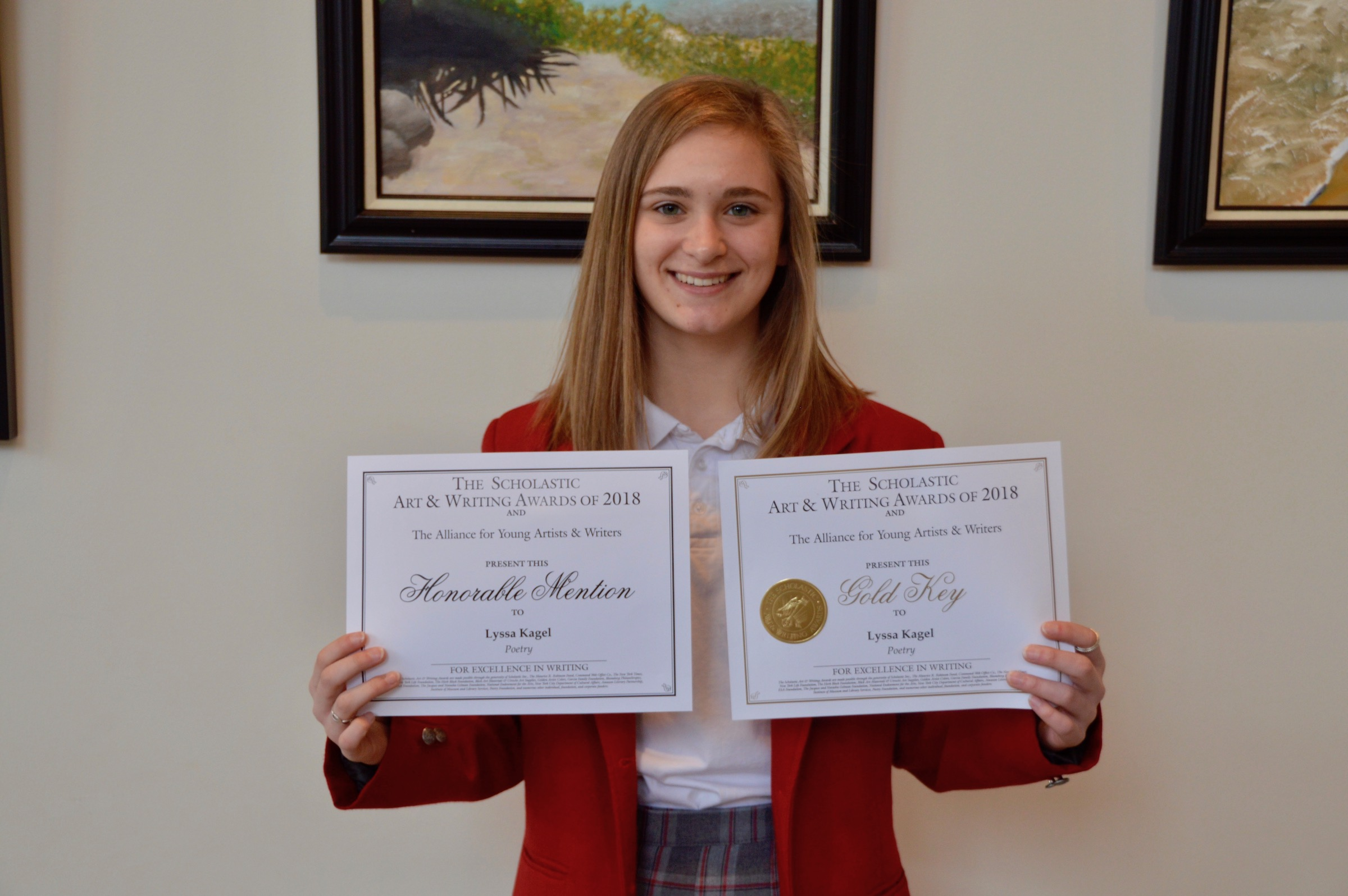 Maryvale sophomore earns national silver medal in writing
