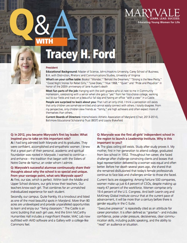 Maryvale President Ford Q&A Brochure