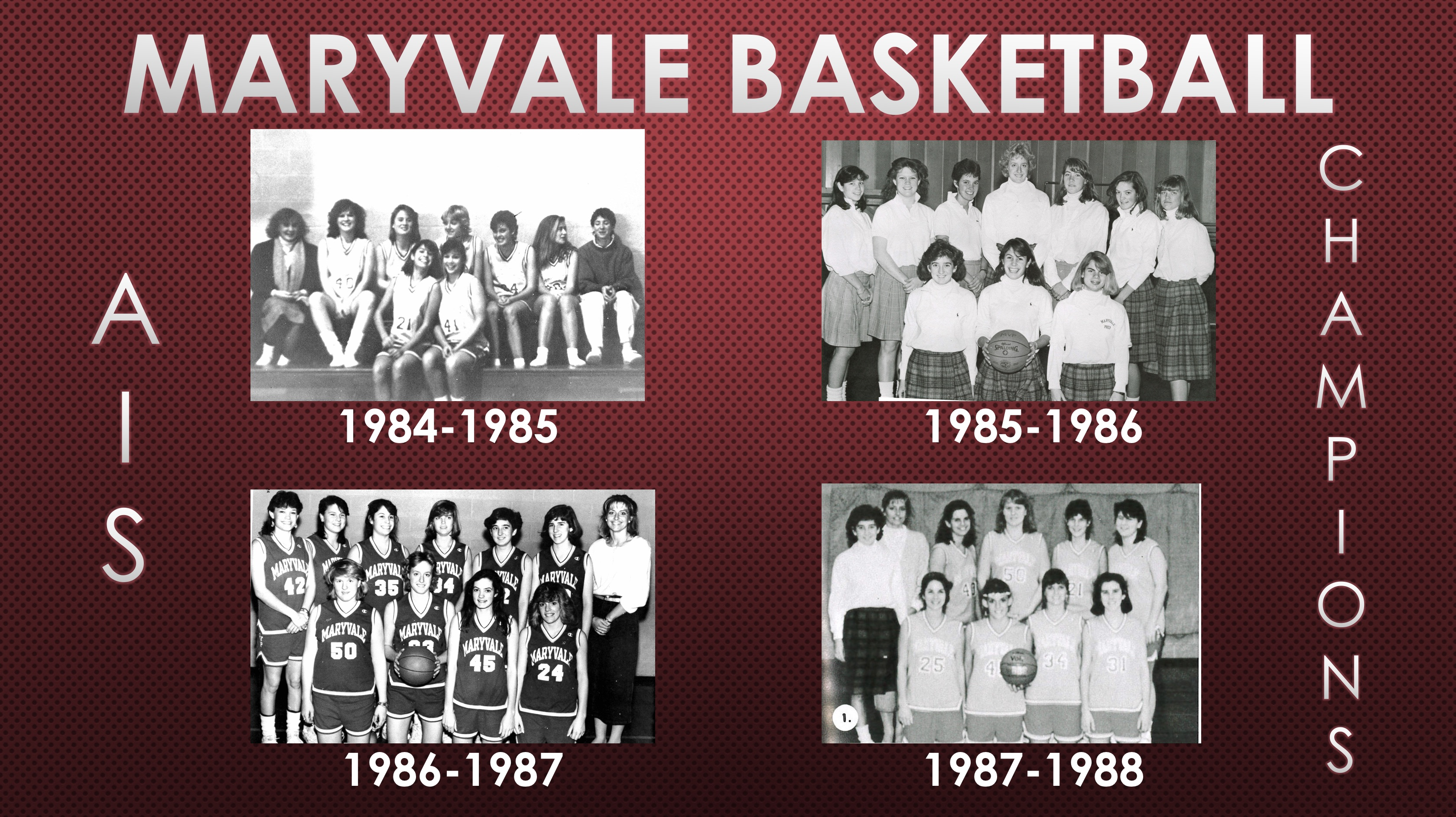 2018 Athletic Hall of Fame Inductee: Basketball Teams from 1984-1988