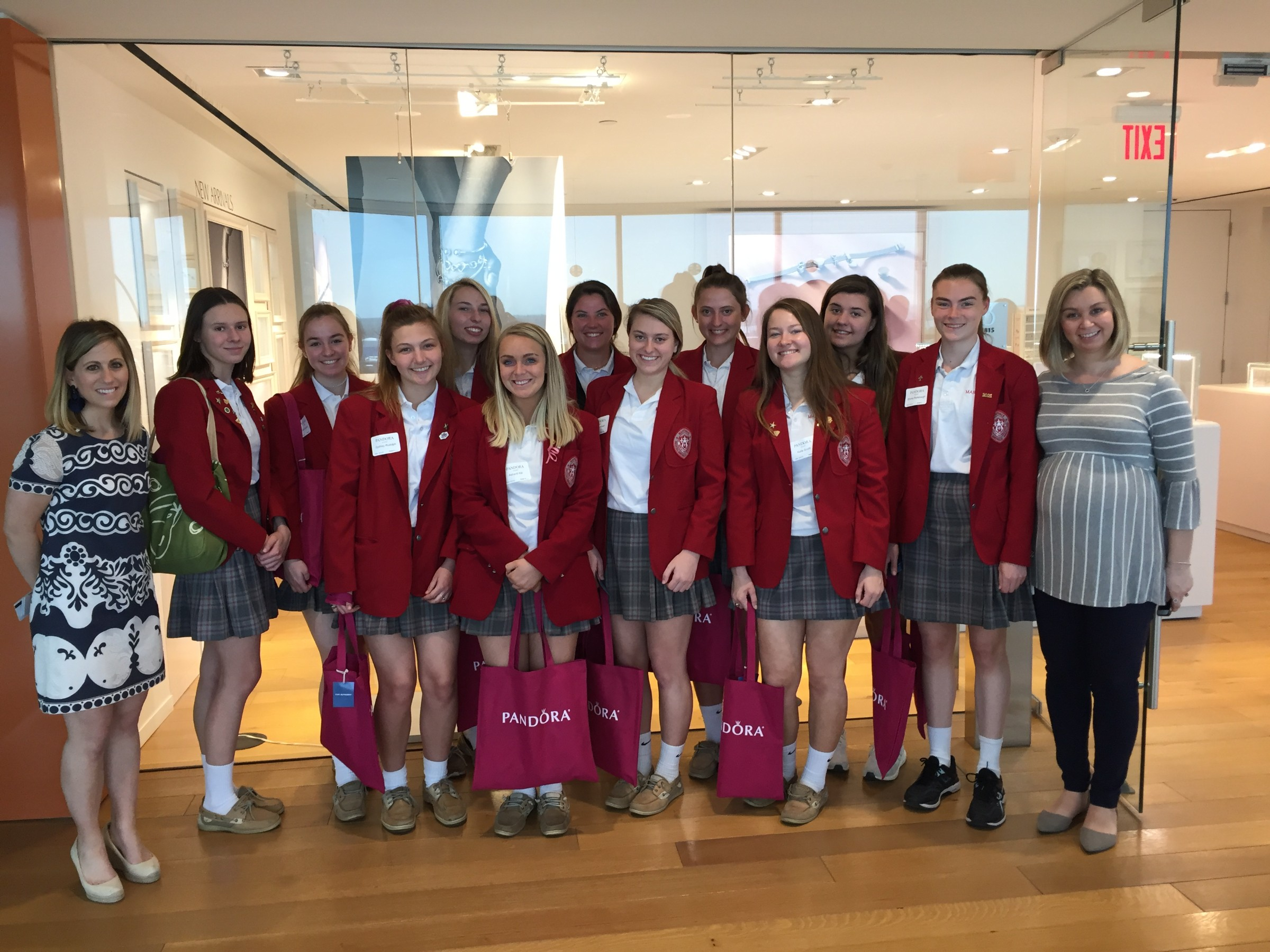 Maryvale Leadership students visit Pandora Jewelry headquarters