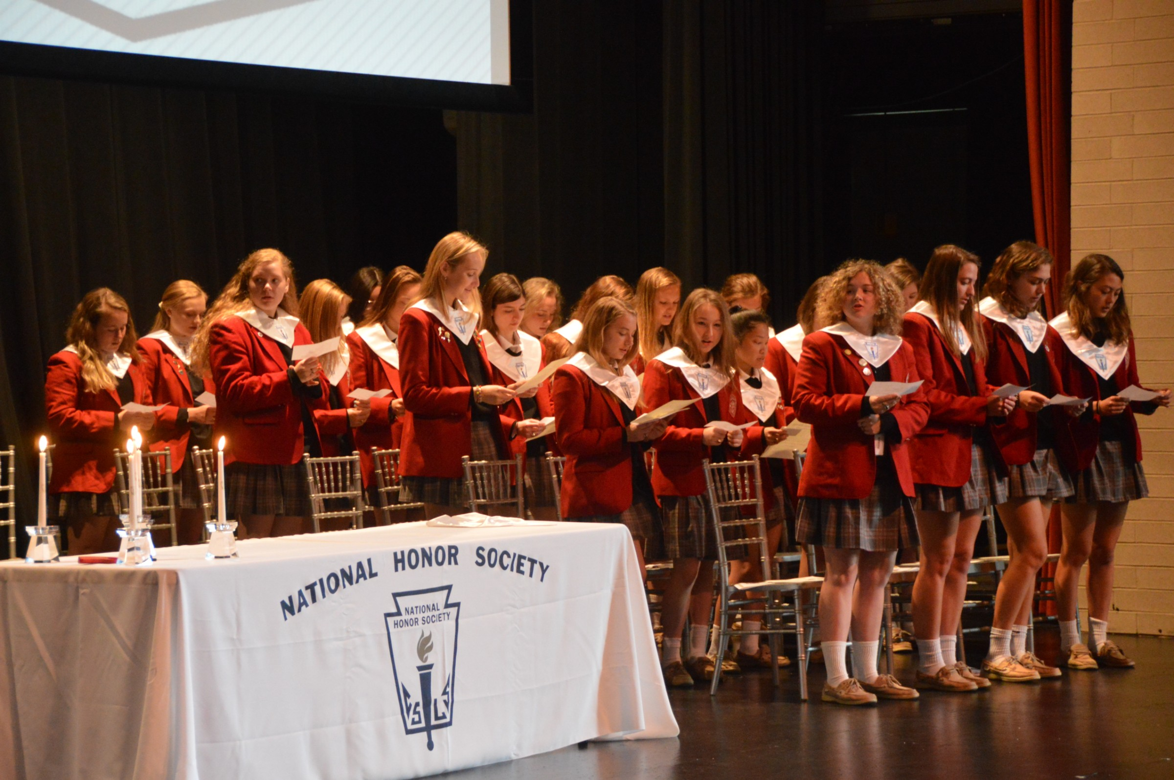 National Honor Society welcomes 23 Maryvale students
