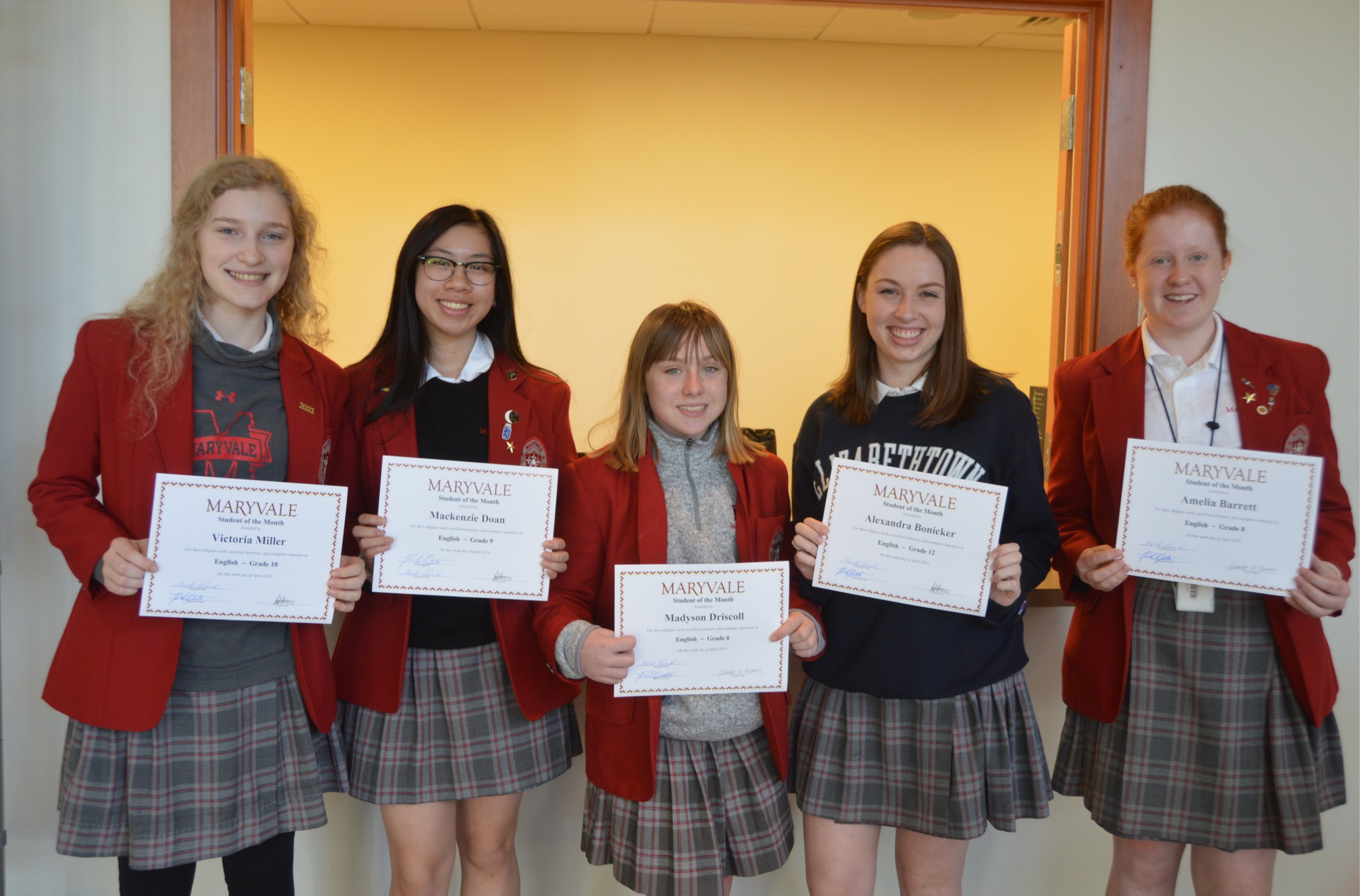 Students of the Month: Seven commended for success in English