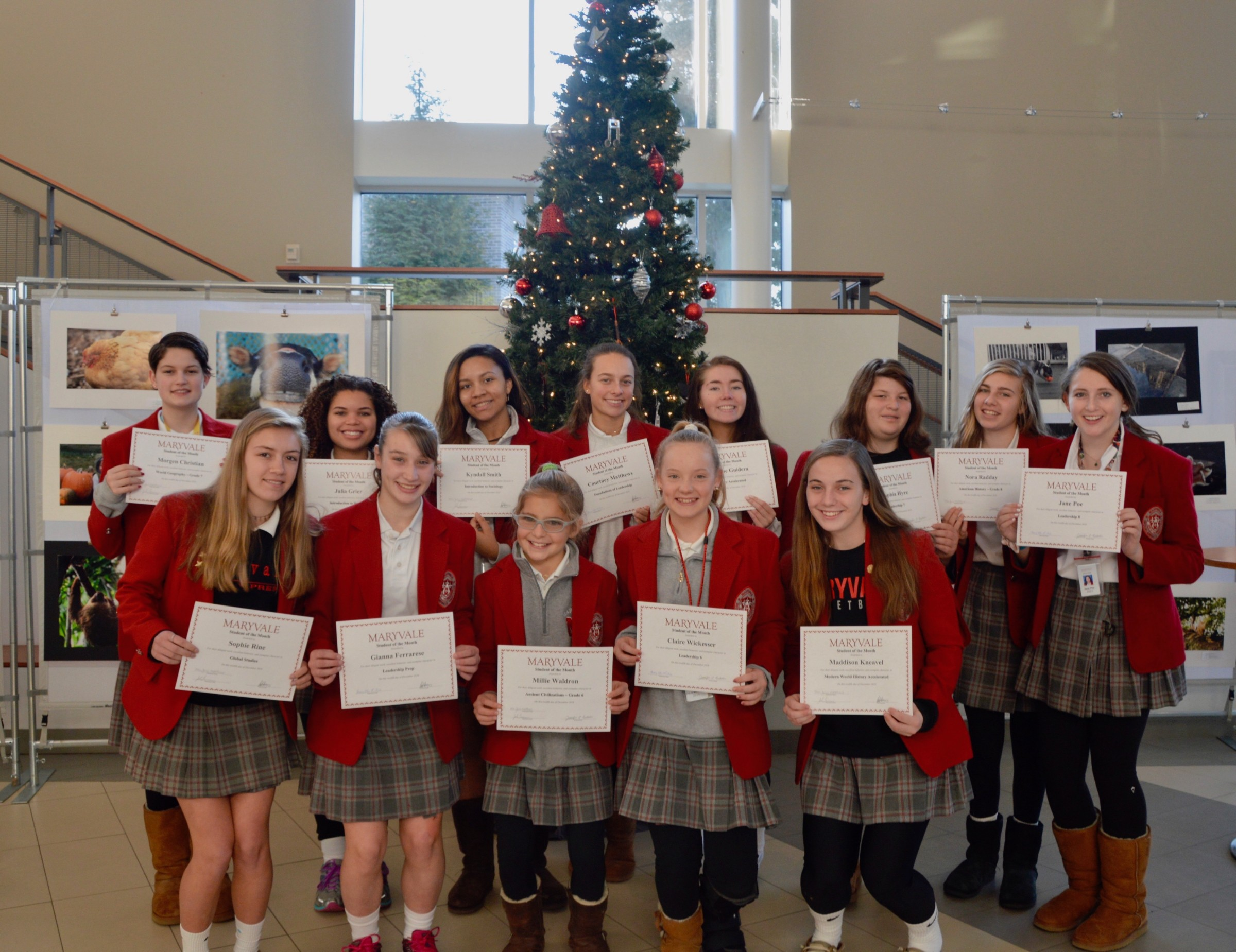 Students of the Month: 13 honored for outstanding academic success