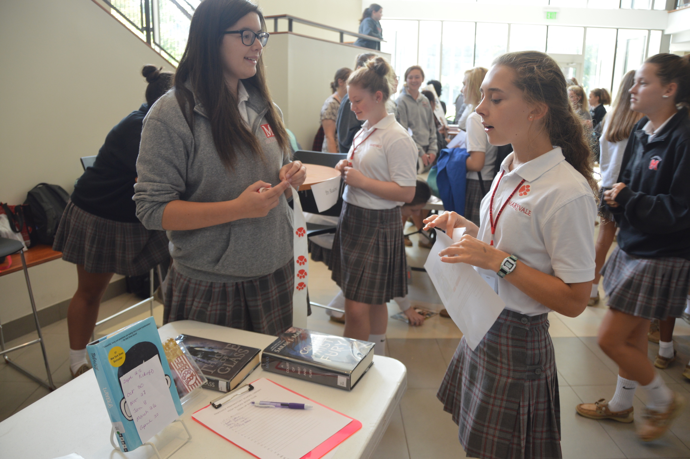 2018-2019 Upper School Co-Curricular Clubs at Maryvale