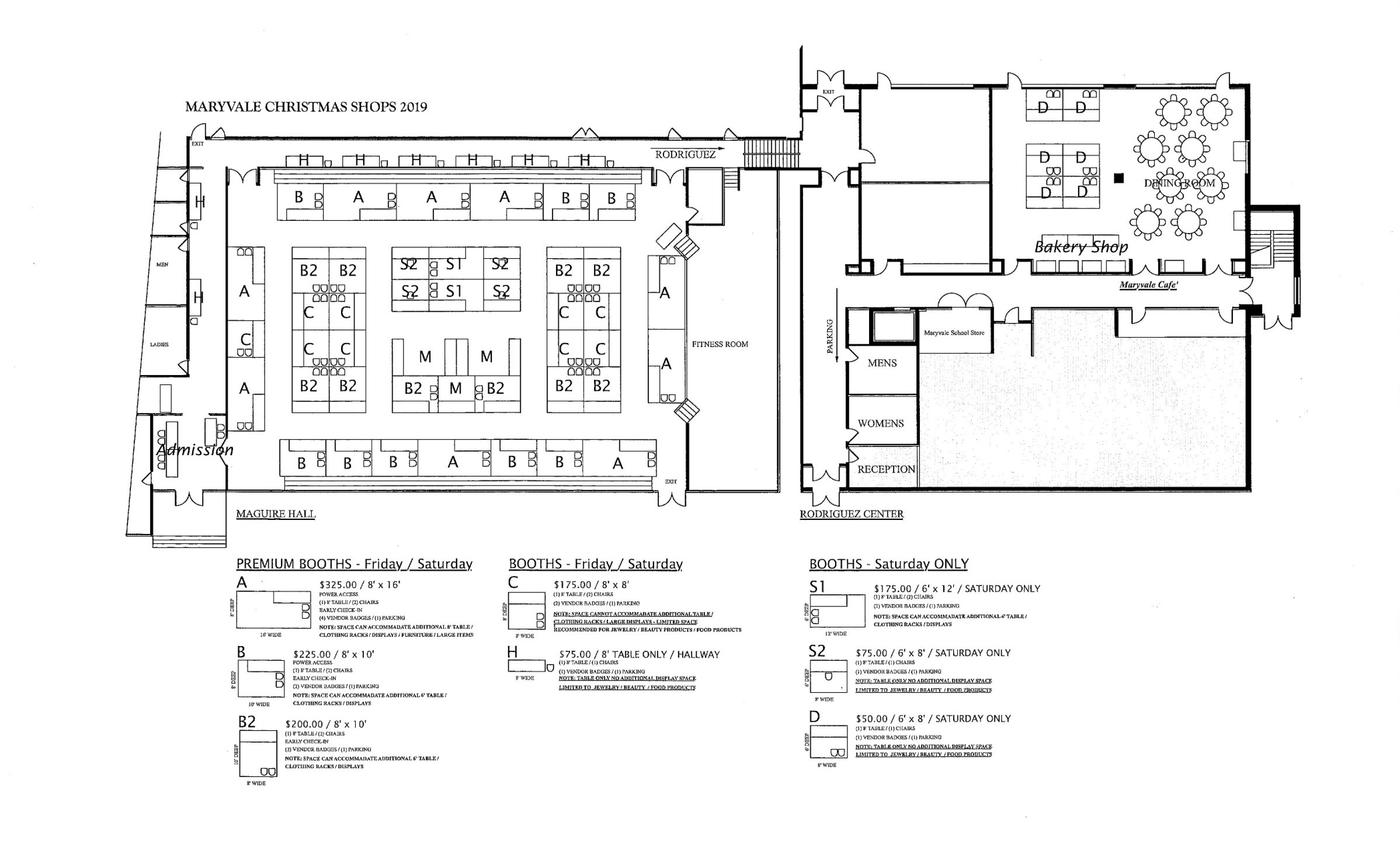 Maryvale Christmas Shops Schematic