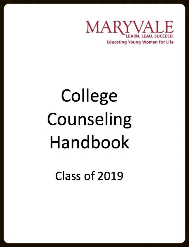 College Counseling Handbook for the Class of 2019