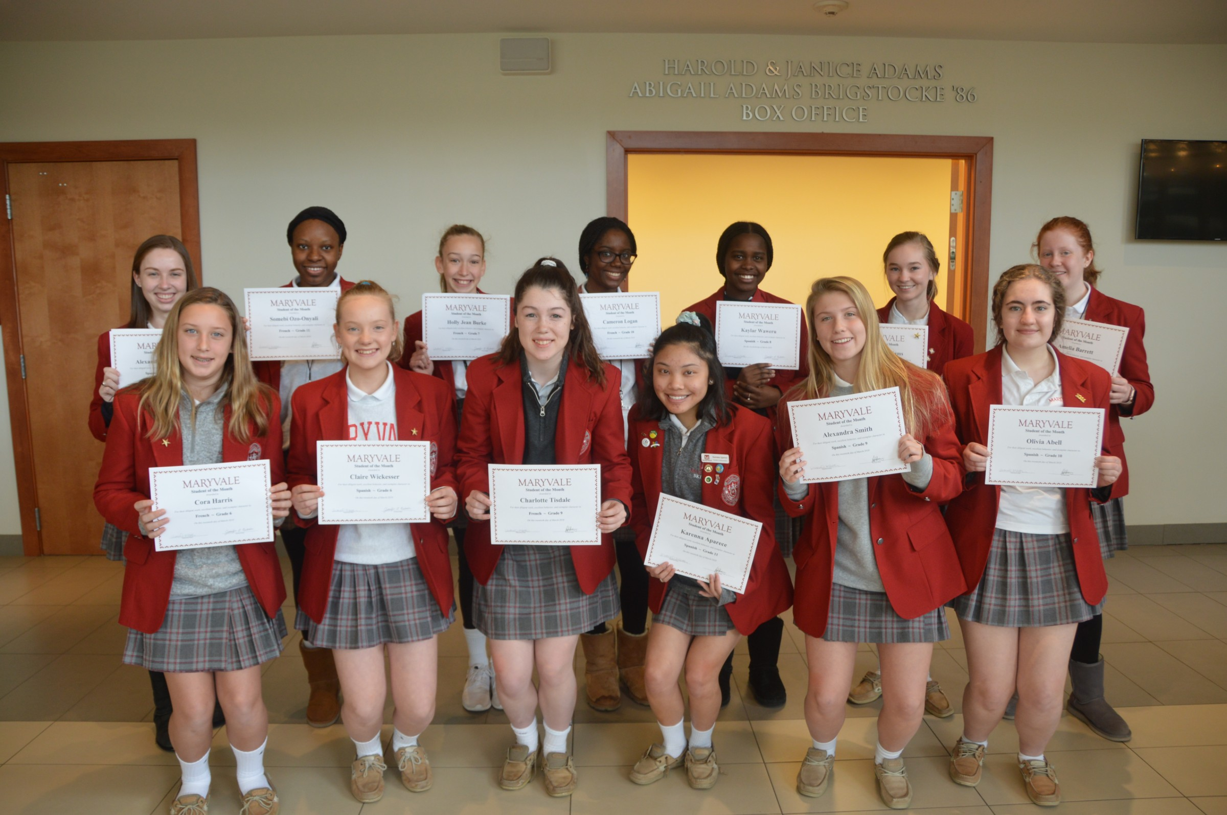 Students of the Month: 14 honored for academic achievements