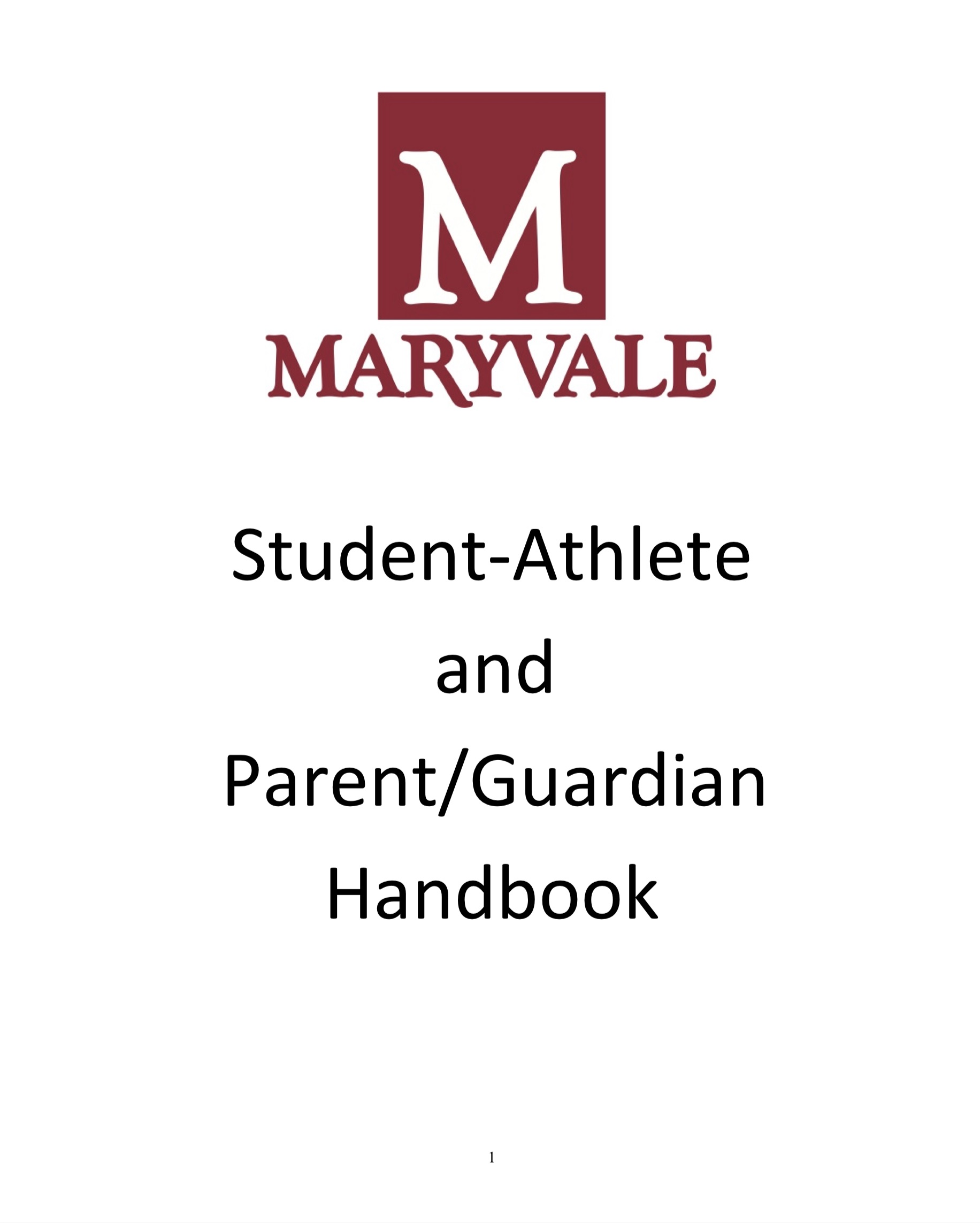 Maryvale Student Athlete and Parent Handbook