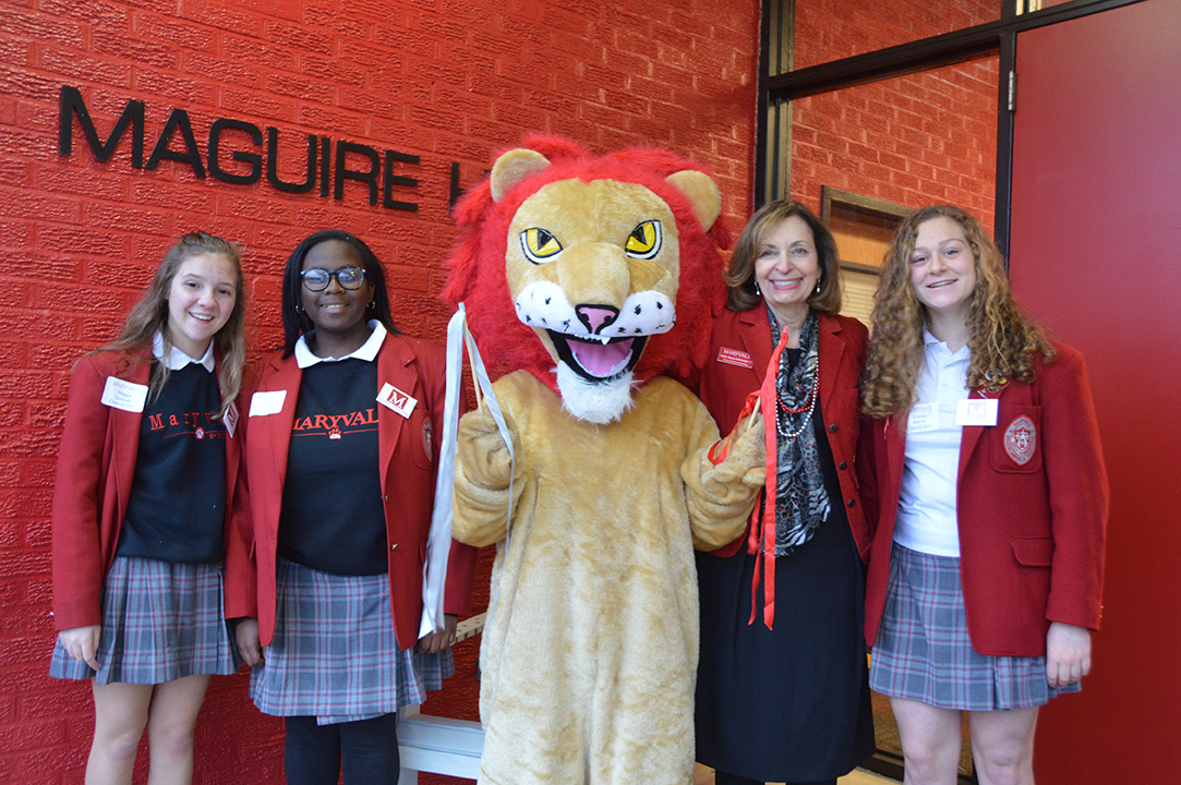 Maryvale Lion and Students
