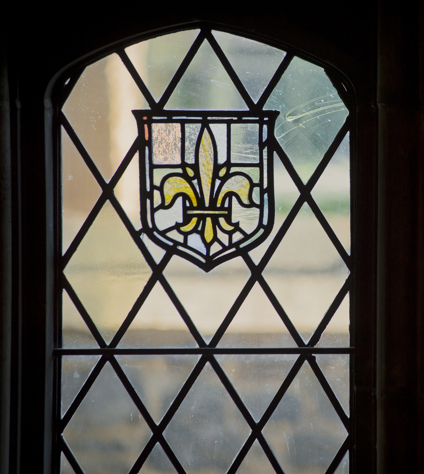 Stained Glass Castle Window