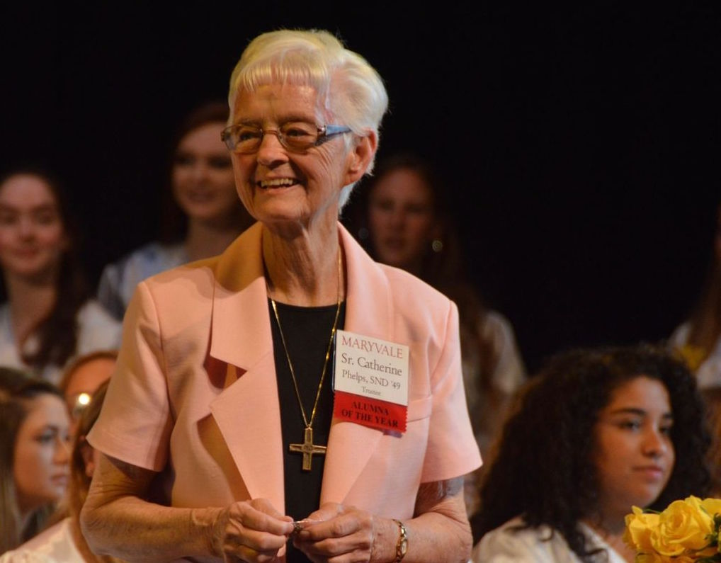 Maryvale Alumna of the Year Sr. Catherine Phelps '49 passes away
